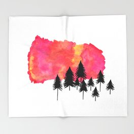 Forest Fire Throw Blanket