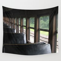 train Wall Tapestries featuring Train by Catherine Donato