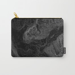 NORTH BEND WA TOPO MAP - DARK Carry-All Pouch