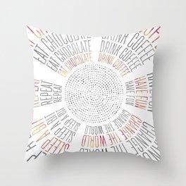 GRAPHIC ART Life Circles Throw Pillow