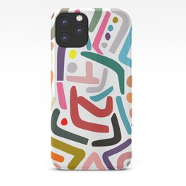 Line Drawing Pattern iPhone Case