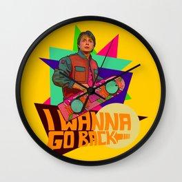 I Wanna Go Back!  |  Hoverboard  |  80's Inspiration Wall Clock