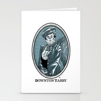 downton abbey Stationery Cards featuring Downton Tabby by Gimetzco's Damaged Goods