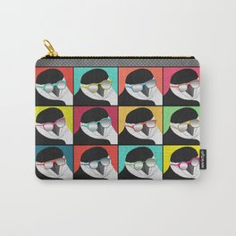 Chinstrap Penguins Pop Art vertical digital paper collage Carry-All Pouch