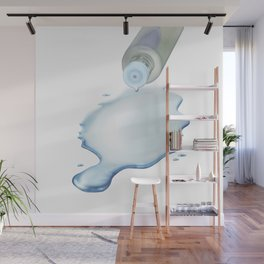 Lotion liquid dropped from the bottle on the floor Wall Mural