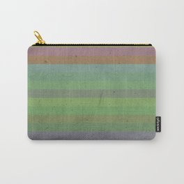 Earthy Bold Stripes Carry-All Pouch