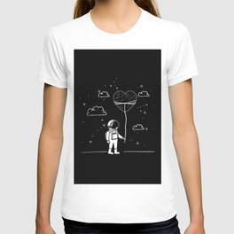 Astronaut Draw with Heart T-shirt