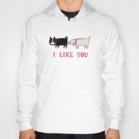 designer Hoodies featuring I Like You. by gemma correll