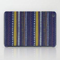 Dark Blue Pattern iPad Case