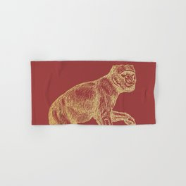 Gold monkey on samba Hand & Bath Towel