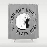 bugs Shower Curtains featuring Bugs by The Junkers