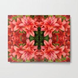 """A Gathering of Lilies"" Remix - 5 (1-1) [D4471~15] Metal Print"