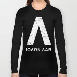 Distressed Spartan Lambda - Molon Labe Long Sleeve T-shirt