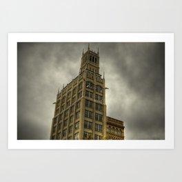 Jackson Building in Asheville, NC Art Print