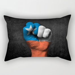 Chilean Flag on a Raised Clenched Fist Rectangular Pillow