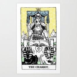 Geometric Tarot Print - The Chariot Art Print