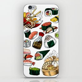Sushi White iPhone Skin