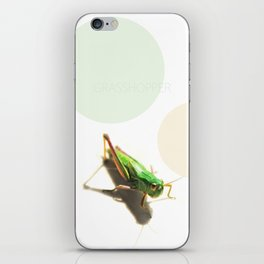 Insect Portrait | Grasshopper iPhone Skin