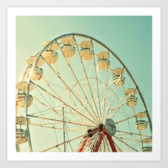 Ferris Wheel Magic Art Print