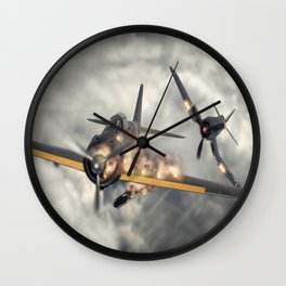 Watch your six! Wall Clock