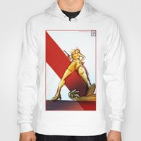 kindle Hoodies featuring Femme Fatale by garciarts