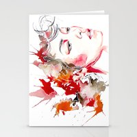 oriental Stationery Cards featuring oriental by Lua Fraga