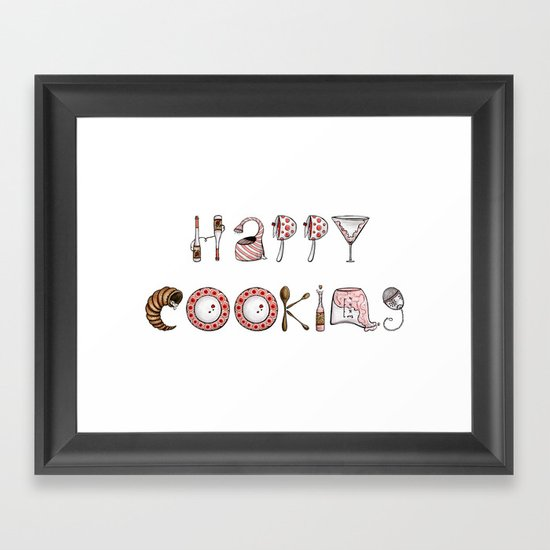 Happy Cooking Framed Art Print
