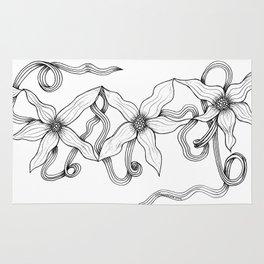 Huia Art Clematis Ribbon Rug