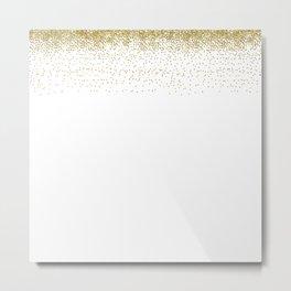 Glitter Rain Metal Print