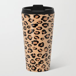 Leopard Metal Travel Mug