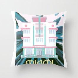 Miami Landmarks - McAlpin Throw Pillow