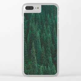 deep woods. Clear iPhone Case