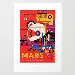 Retro Mars Vacation Ad from NASA Art Print