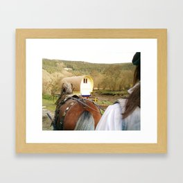 ALMOST HOME BY HORSE AND CART Framed Art Print