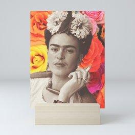 Frida Cigarettes Mini Art Print