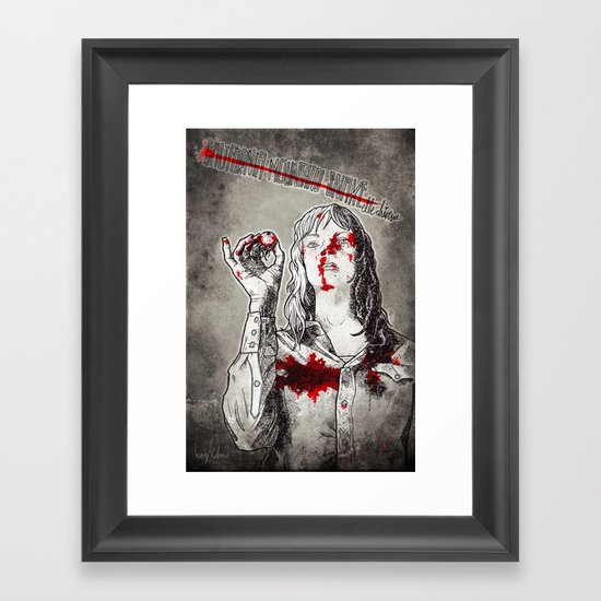 California Mountain Snake // Kill Bill Framed Art Print