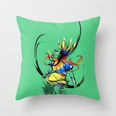 Colors of Anger Throw Pillow