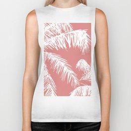 Pink Palm Tree Biker Tank