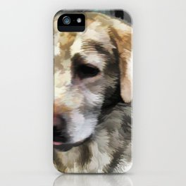 Labradors fun in the mud iPhone Case
