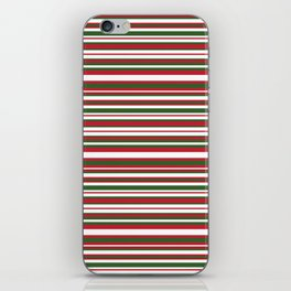 Christmas Striped Patterns iPhone Skin