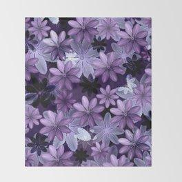 Ultra Violet Anemones of Tillandsia Throw Blanket