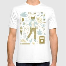 The Scholar LARGE Mens Fitted Tee White