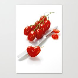 tomato heart - healthy eating concept Canvas Print