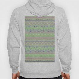 Geometrical green violet pink tribal aztec pattern Hoody
