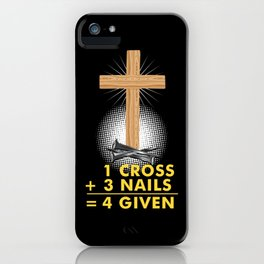 Funny Christian Jesus Forgiven Religion Gift iPhone Case