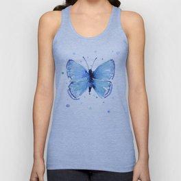 Blue Butterfly Watercolor Unisex Tank Top