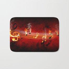 Hot Music Notes Bath Mat