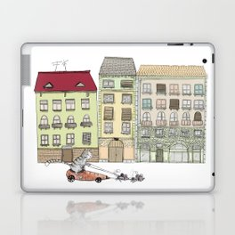 Budapest and the wandering cat Laptop & iPad Skin