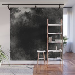 Lost In The Void - Abstract Black And White Painting Wall Mural