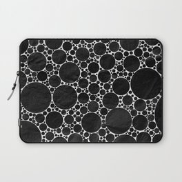 Modern Black and WHITE Textured Bubble Design Laptop Sleeve